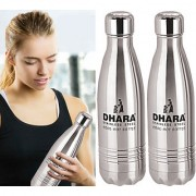 Dhara Stainless Steel Water Bottle For Hot & Cold Water (1000ml)-DHARA37