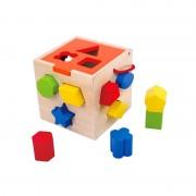 Tooky Toy didaktička kocka s oblicima