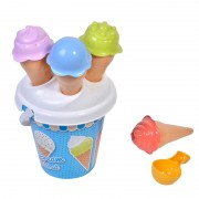 Set galetusa pentru nisip Ice Cream, 6 piese, Albastru