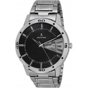 ADIXION 9519SMDD01 New Stainless Steel Day & Date Series Youth Wrist Watch Watch - For Men