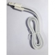 Micro USB Flat Fast Sync Fast Charging Noodle Cable For Samsung Sony LG 1M. white