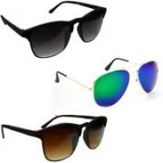 Sulit Aviator, Wayfarer Sunglasses(Black, Green, Brown)