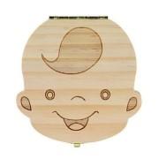 Cutiuta din lemn pentru pastrat dintisorii - Baieti