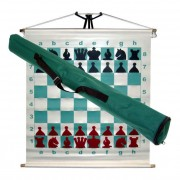 Tablă de șah demonstrativă care se rulează (68cm)