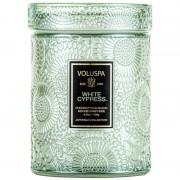 Voluspa Mini Glass Jar Candle With Lid White Cypress (156g)