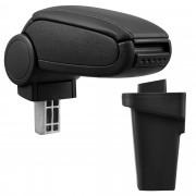 PremiumXL - [pro.tec] Naslon za ruke – specifičan za Ford Focus 3. - naslon za ruke za auto - sa pretincem - umjetna koža - crno