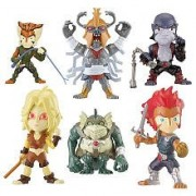 Bandai Thundercats Stylized Super Deformed Figure 6Pack Collector Pack LionO, Cheetara, Panthro, Tygra, MummRa Slithe