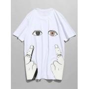 zaful T-shirt imprim¨¦ ¨¤ manches courtes
