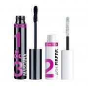 Wet n wild lash-o-matic fiber mascara extension kit very black
