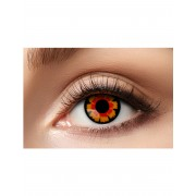 Vegaoo.se Kontaktlinser fantasi röda och svarta vuxen
