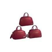 Linha Completa Bolsa Maternidade Fashion Vermelha