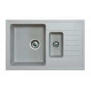 Sudopera Metalac X Granit Quadro Plus 1.5D fi 90 sa sifonom, Siva, 158550