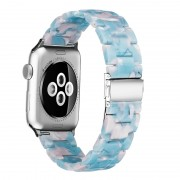 Waterproof Resin Watch Band Strap for Apple Watch Series 5 4 40mm, Series 3 / 2 / 1 38mm - Blue