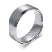 Bandringen Titanium Staal Modieus Eenvoudige Stijl Zilver Sieraden Feest Dagelijks Causaal 1 stuks