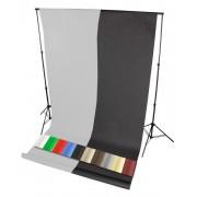 Zestaw do teł 230cm + tło fotograficzne bez tulejki 1,6x5m + belka 170cm + klipsy