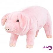 vidaXL Stojeća plišana igračka prase ružičasta XXL