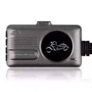 Tamquer Cámara de vídeo Frontal Trasera de Doble Lente 1080P para Motocicleta, Sensor G, cámara de salpicadero de Motocicleta, visualización Impermeable de Doble Lente de 1080P