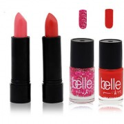 Set of 2 Lipsticks and 2 Nail paints