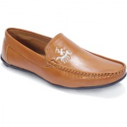 VJMAX Men's Tan Synthetics Leather Casual Loafers