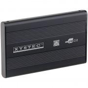 "Xystec 2,5"" Alu-Festplattengehäuse USB 2.0 für SATA-Festplatten"