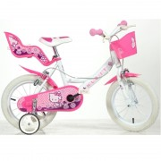 Bicicleta Hello Kitty Dino Bikes diametrul de 16