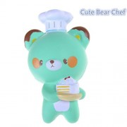 Baradu 1 Pc Kawaii Chef Pastry Bear Squishy Toy Slow Rising Soft Charms Squeeze Toy