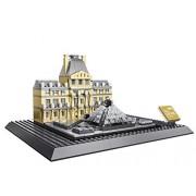 Little Builder Architecture Louvre Paris Building Bricks Toy Set 785 Pieces