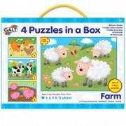 Set 4 puzzle uri Animale de la ferma Galt