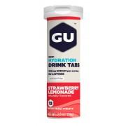 GU Energy Brew Hydration Sportvoeding met basisprijs aardbei limonade 12 stuks rood/wit 2018 Sportvoeding