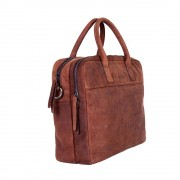 DSTRCT Wall Street Business Laptop Bag Brown 13-15 inch