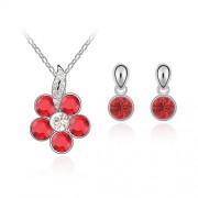 Set bijuterii Red Flower