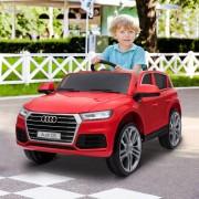 4, Farben HOMCOM® Kinderauto Kinderfahrzeug Elektroauto Audi Q5 mit Fernbedienung Rot