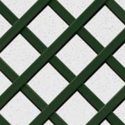 Celosía rombo 57 mm PVC verde