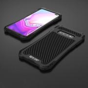 Skydd mot stötar, damm och vatten i metal till Samsung Galaxy S10 Plus Svart