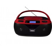 Prenosni CD radio Vivax APM-1040, MP3, crveni