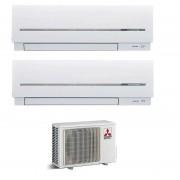 Mitsubishi Climatizzatore/Condizionatore Mitsubishi Electric Dualsplit Parete MXZ2D53VA + MSZSF25VA + MSZSF25VA