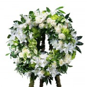 Interflora Coroa Clássica Branca Interflora