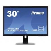 LED-monitor 76.2 cm (30 inch) Iiyama XB3070WQS-B1 Energielabel C 2560 x 1600 pix WQXGA 5 ms HDMI, DVI, DisplayPort, VGA AH-IPS LED
