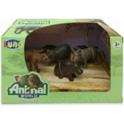 Set 4 figurine Animale Salbatice Animal World 621057