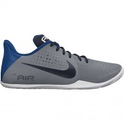 Men's Nike Air Behold Low Basketball Shoe Cool Grey/Obsidian/White/Gym Blue Size 8 M US