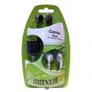 Комплект Слушалки MAXELL EBC-2, In-Ear, бял и черен ML-AH-EBC-2