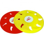 Grazzo Flying Discs Frisbees Pack of 2 Waterproof Plastic Red Yellow - 8.5 Inch
