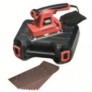 Slefuitor cu vibratii Black and Decker 310 W 115 x 280 mm 10000 RPM KA274EKA + kitbox 10 foi abrazive si saculet pentru praf