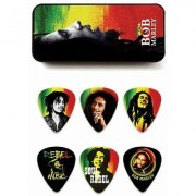 Dunlop Bob Marley Collector Guitar Pick Tin - Rasta - Heavy