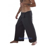 Brown Thai Fisherman Pants Pinstripe Cotton Wrap Yoga Trousers