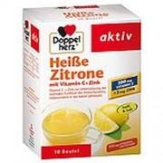 Queisser Pharma GmbH & Co. KG DOPPELHERZ heiße Zitrone Vitamin C+Zink Granulat 10 g
