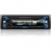 DVD Player auto stereo Quick Sound, FM, MP3, MP4, DIVX, SD, USB, DVD, Bluetooth, Telecomanda, Negru, 4x60W