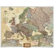 Harta politica a Europei laminata National Geographic