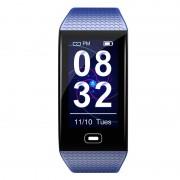 LEMONDA CK28 1.14 inch Color Screen Smart Bracelet Blood Pressure Monitoring Health Sports Watch USB Charging - Blue