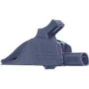 XDK-1033 /-21 (50 Stück) - 4mm Abgreifer Delfinklemme 39,5mm, schwarz XDK-1033 /-21